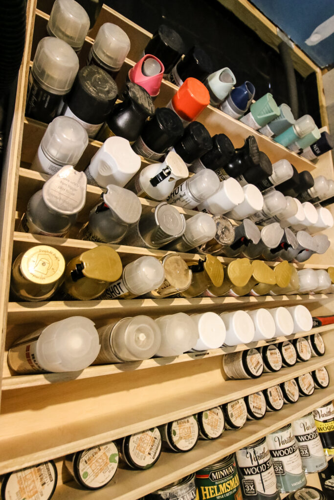 Spray paint organized by color