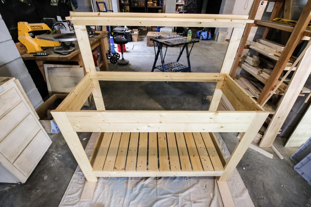 Frame of potting bench