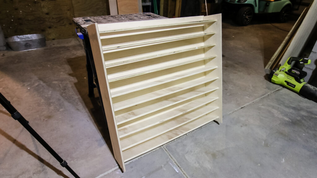Constructed spray paint storage rack