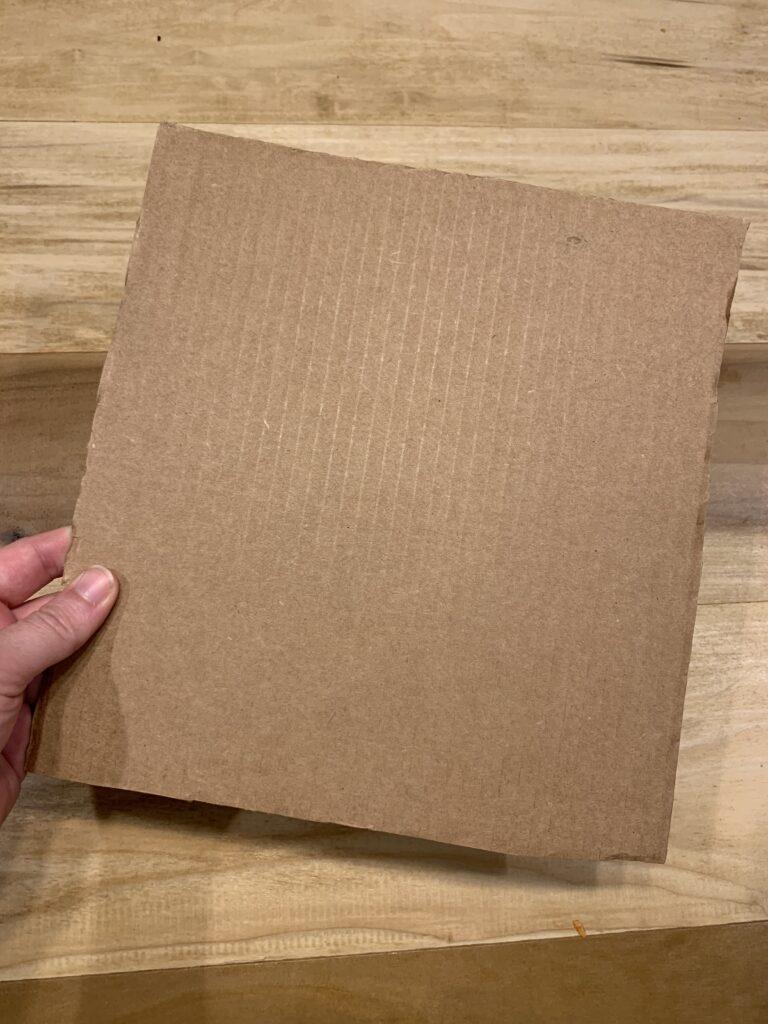 cut a square of cardboard
