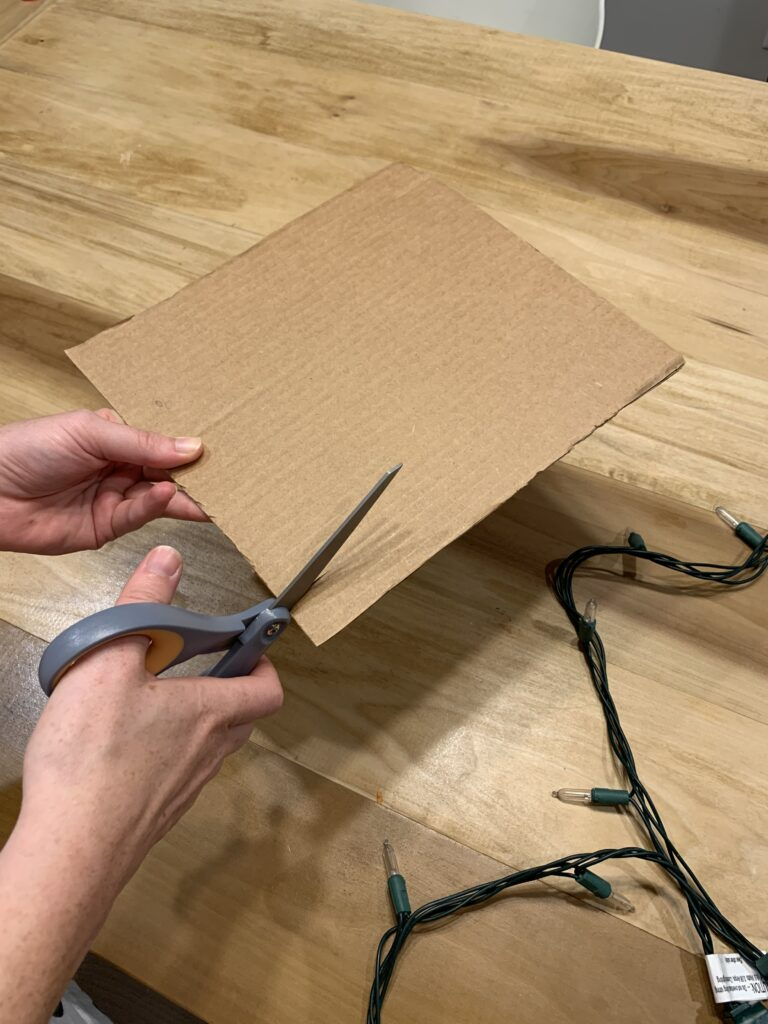 notch the cardboard
