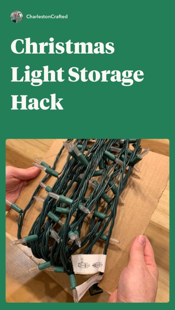 christmas light storage hack