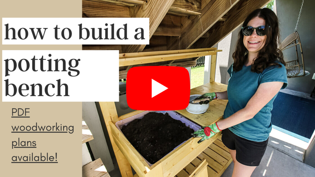Image linking to potting bench YouTube video