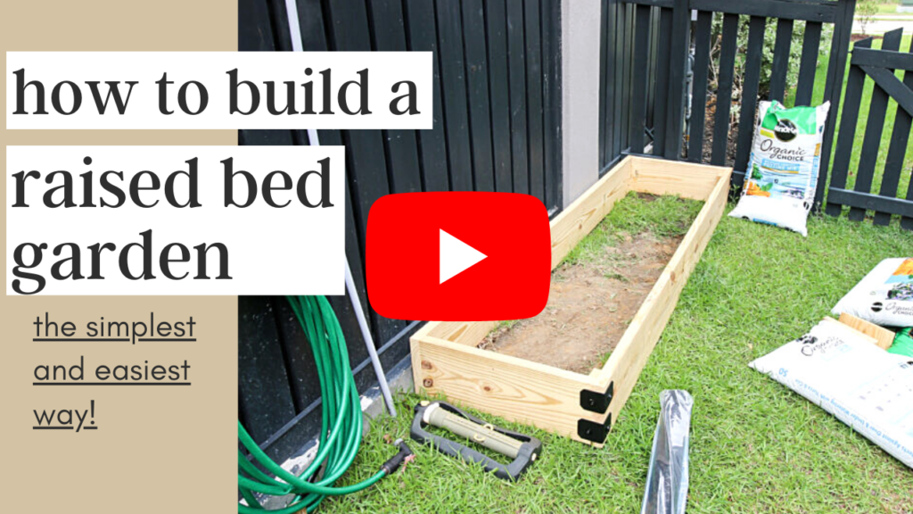 Link to video tutorial for raised bed garden