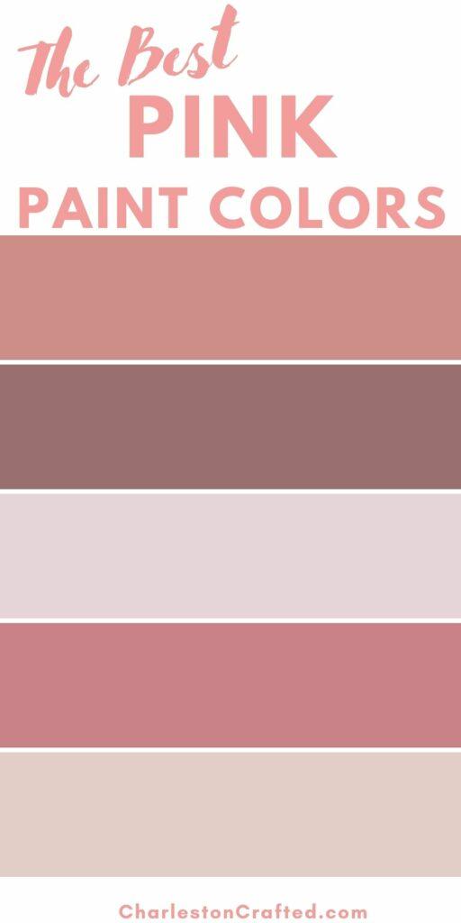 the best pink paint colors
