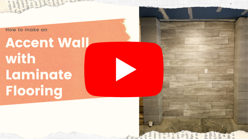 Link to video on how to install laminate flooring on the wall