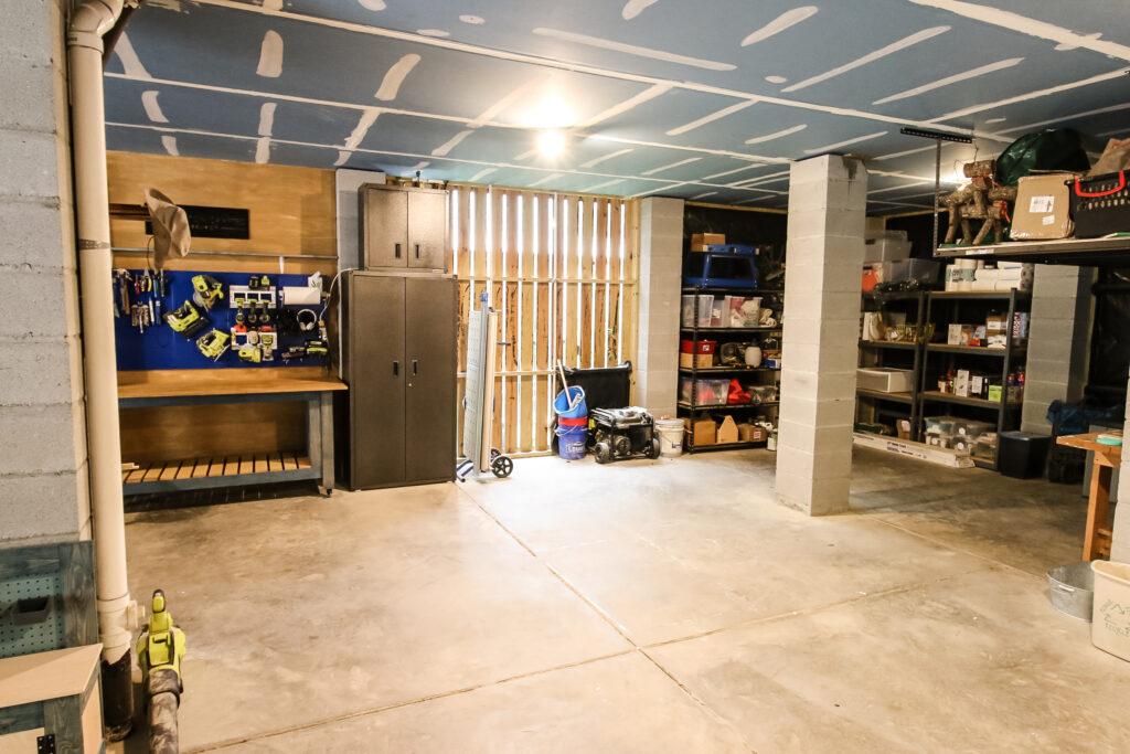 Full photo of garage storage and workshop