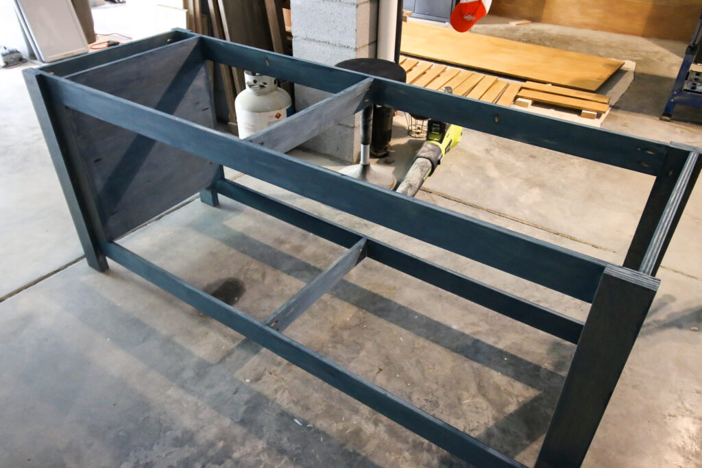 Base of mobile workbench