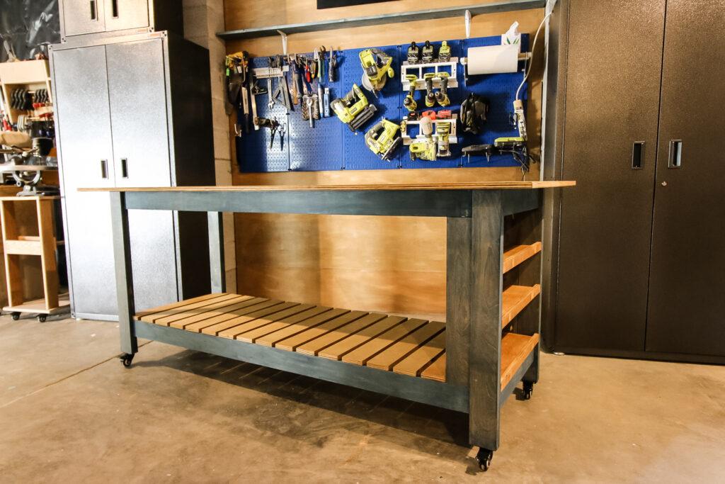 DIY mobile workbench - Charleston Crafted