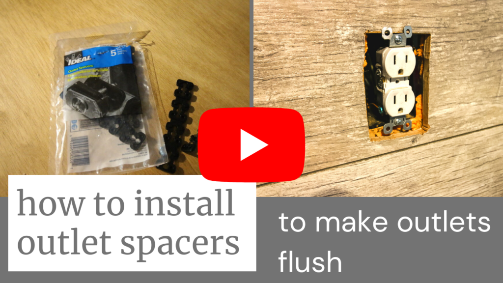 Link to video on how to install outlet spacers