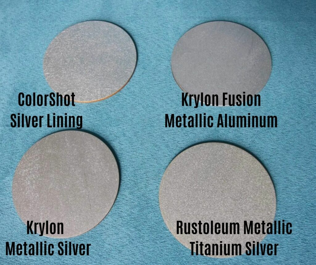 comparing silver spray paints