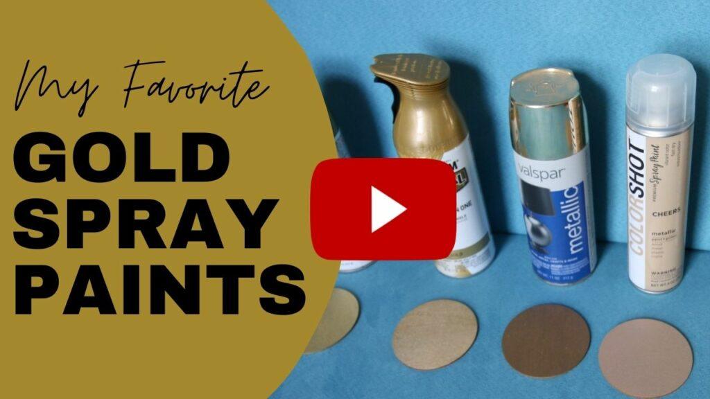 my favorite gold spray paints blog