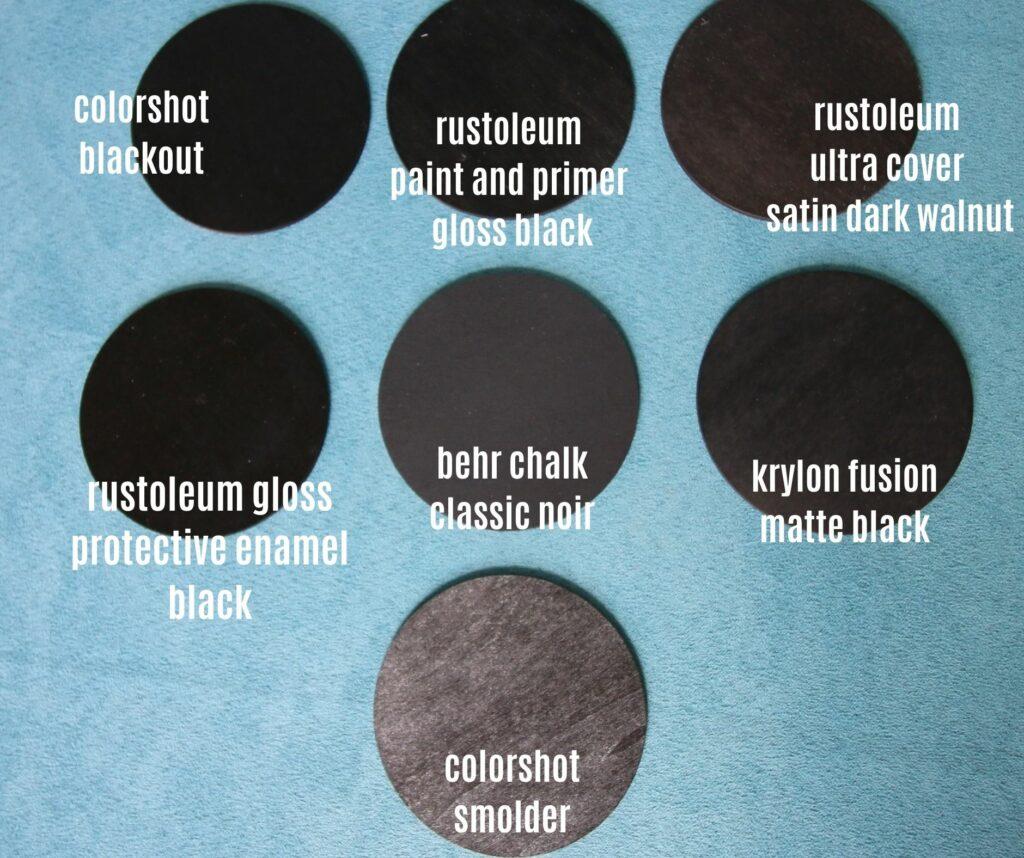 comparing black spray paints