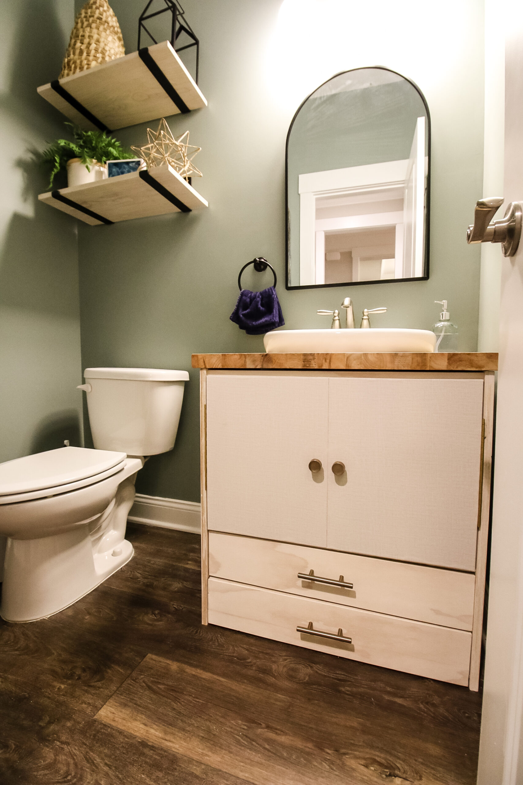 How to build a pedestal sink vanity - Charleston Crafted