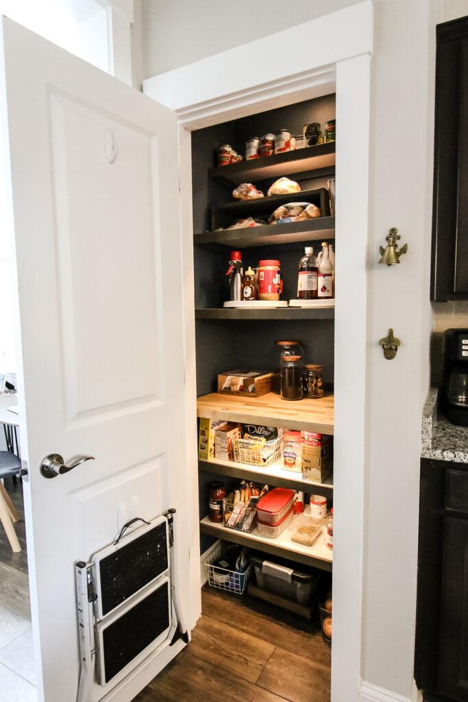 DIY organized small pantry