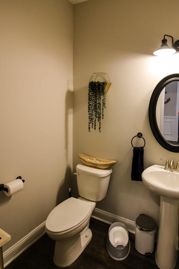 half bathroom before