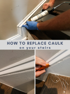 How to replace caulk on stairs - Charleston Crafted