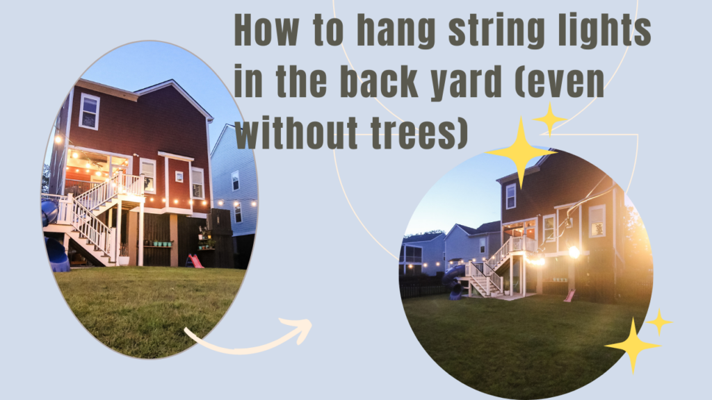 Link to video on how to hang string lights without trees