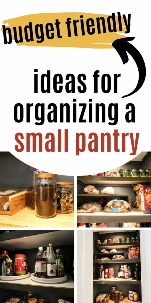 budget friendly ideas for organizing a small pantry