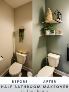 half bathroom makeover in four hours