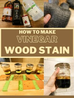 how to make vinegar wood stain
