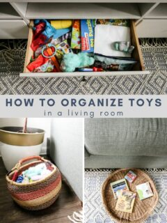how to organize toys in a living room