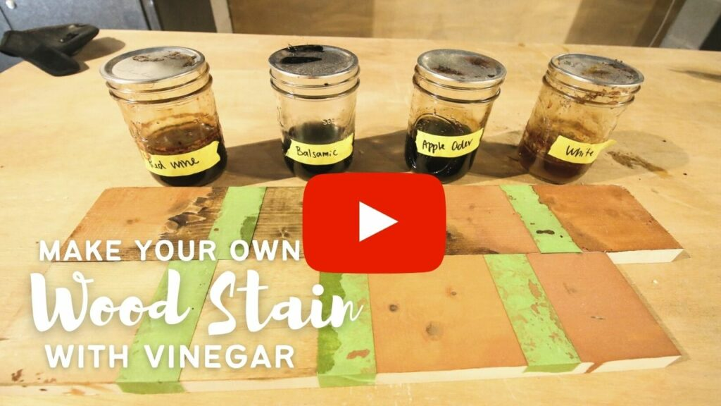 make your own wood stain with vinegar youtube thumbnail blog