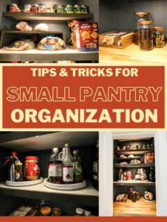 tips and tricks for small pantry organization