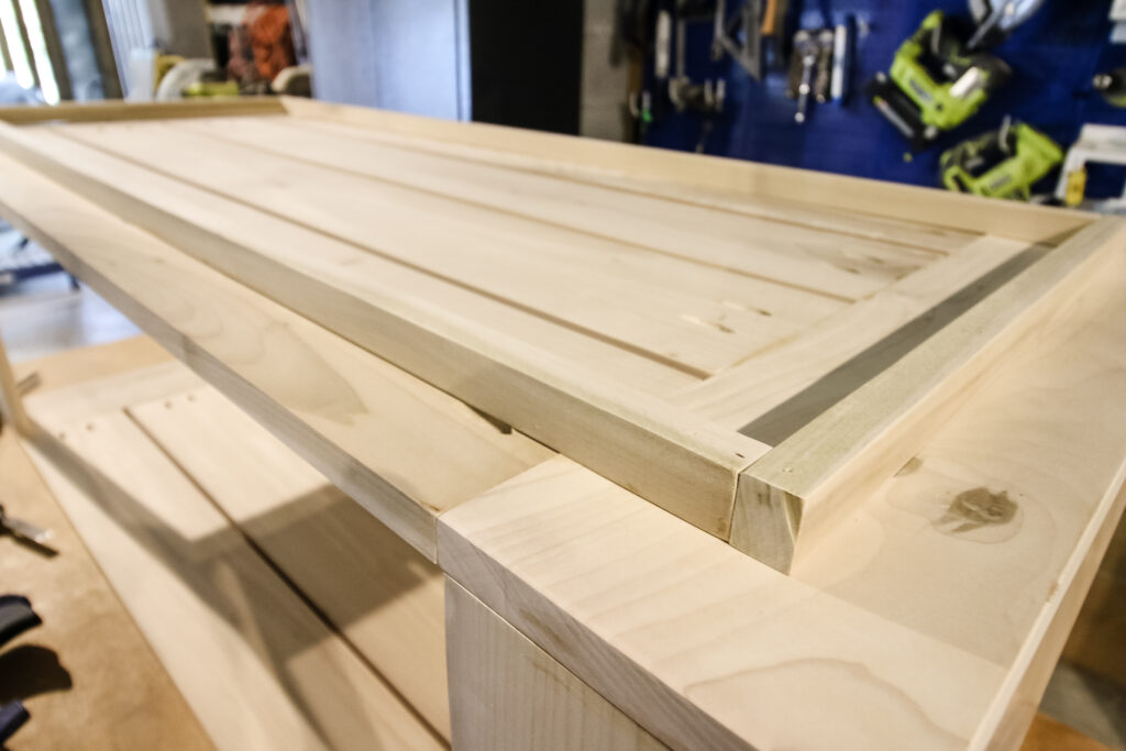 Adding toe kick boards to underside of coffee table