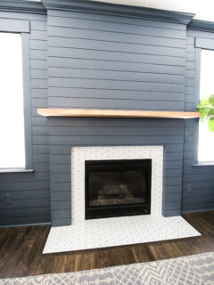 How to make a DIY shiplap fireplace - Charleston Crafted