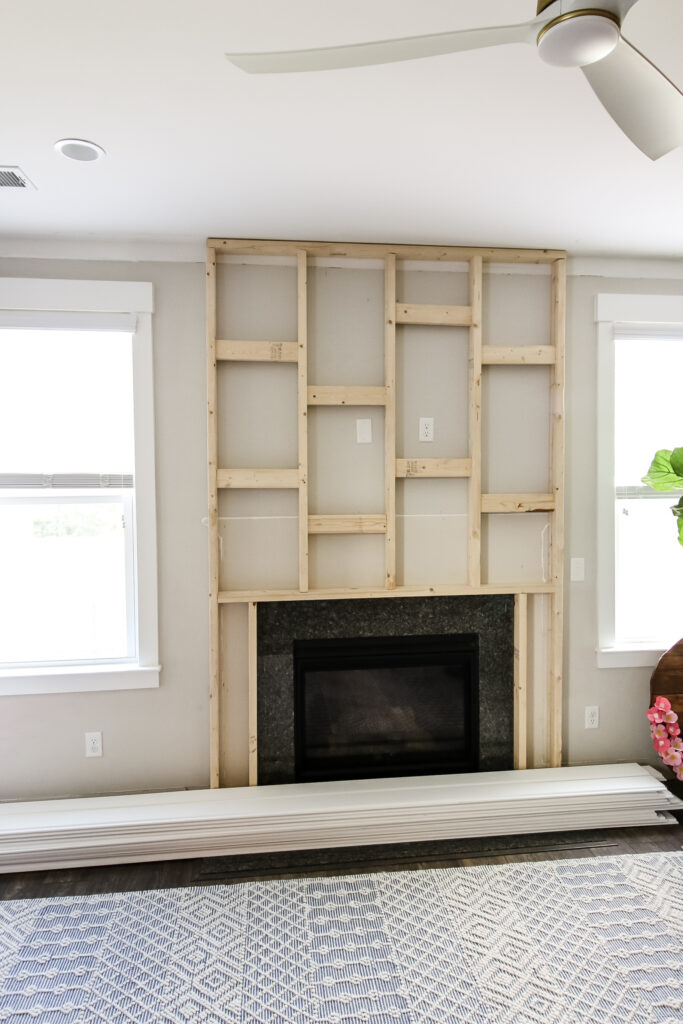 Fireplace pop out frame on wall