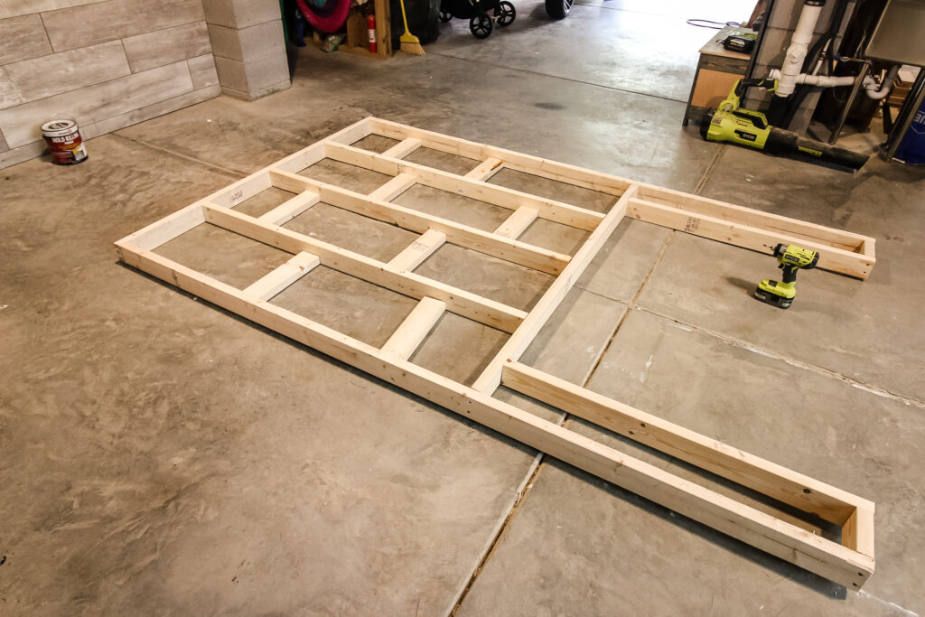 Building a pop out frame for fireplace with 2x4 boards