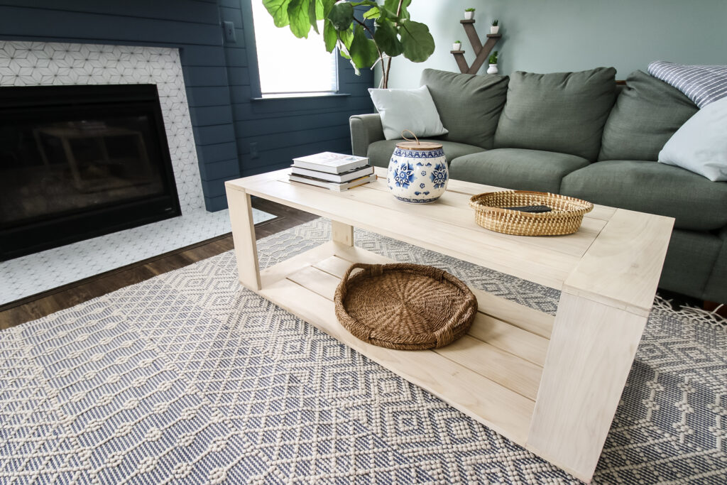 How to build a DIY modern rectangular coffee table - Charleston Crafted