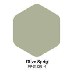 PPG Paint color of the year olive sprig