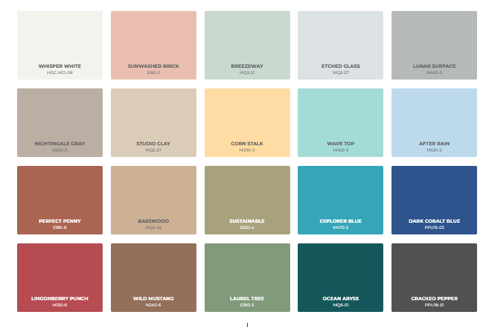 behr 2022 color of the year palette