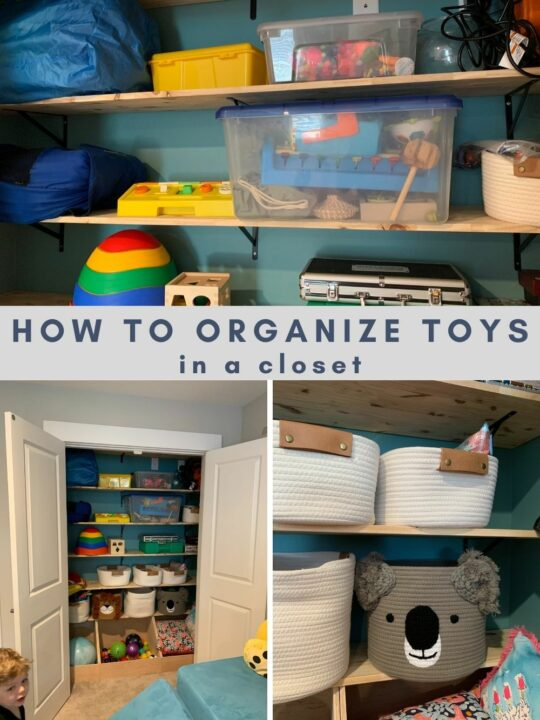 how to organize toys in a playroom closet