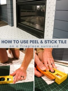 how to use peel and stick tile on a fireplace surround