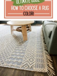 the ultimate guide - how to choose a rug color