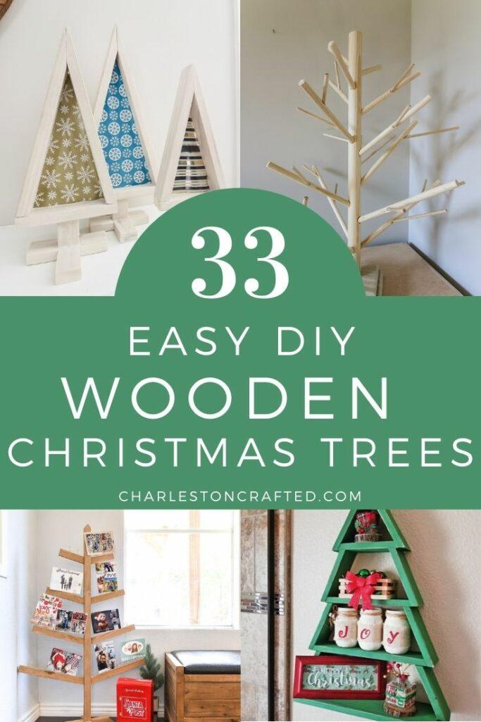 33 easy diy wooden christmas tree ideas