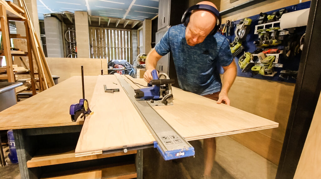 Cutting plywood with Kreg Straight Edge Guide