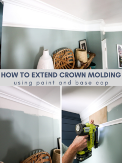 How to extend crown molding with paint - Charleston Crafted