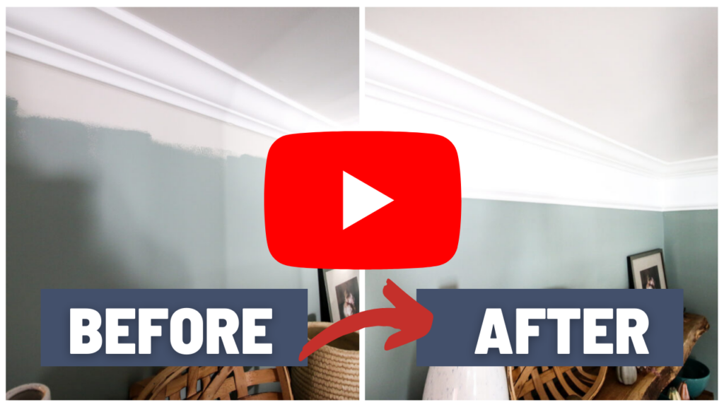 Link to YouTube video of extending crown molding with paint