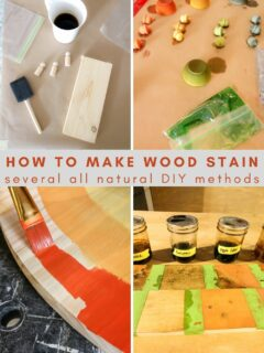 how to make wood stain - several all natural diy methods