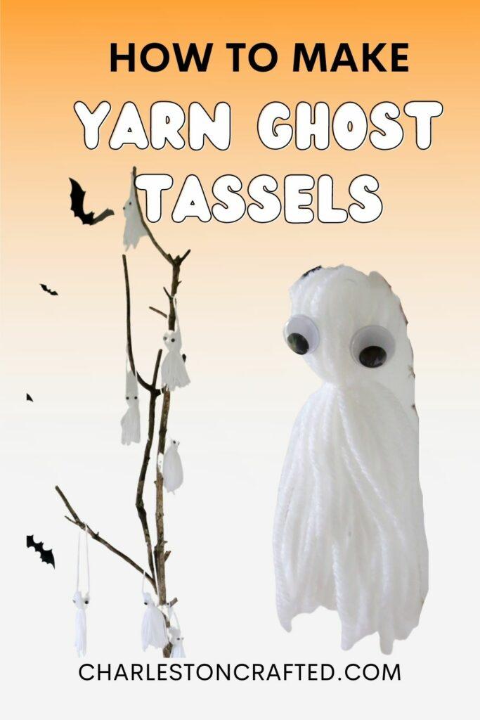 how to make yarn ghost tassels