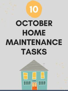 october home maintenance tasks